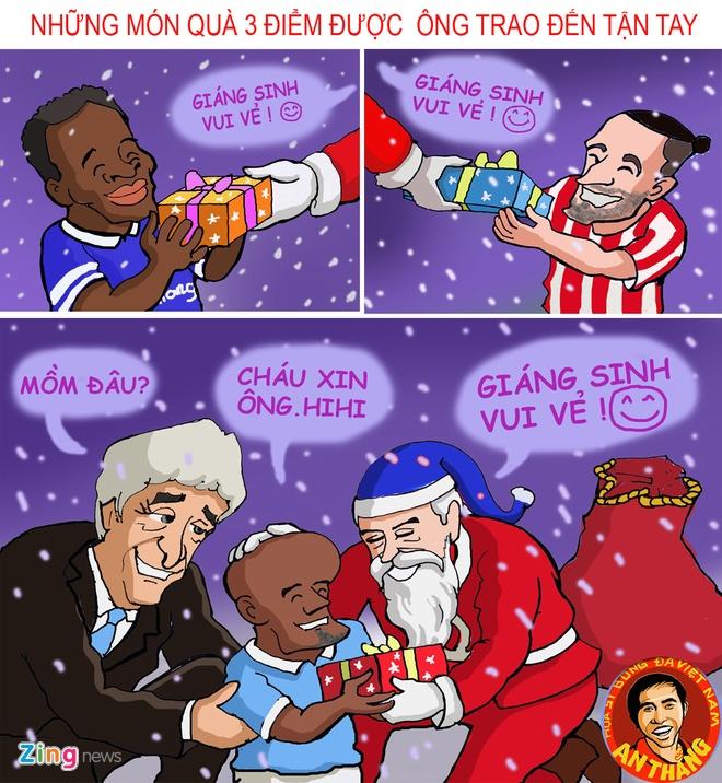 Hi hoa: Mourinho hoa ong gia Noel phat qua cho doi thu hinh anh 11