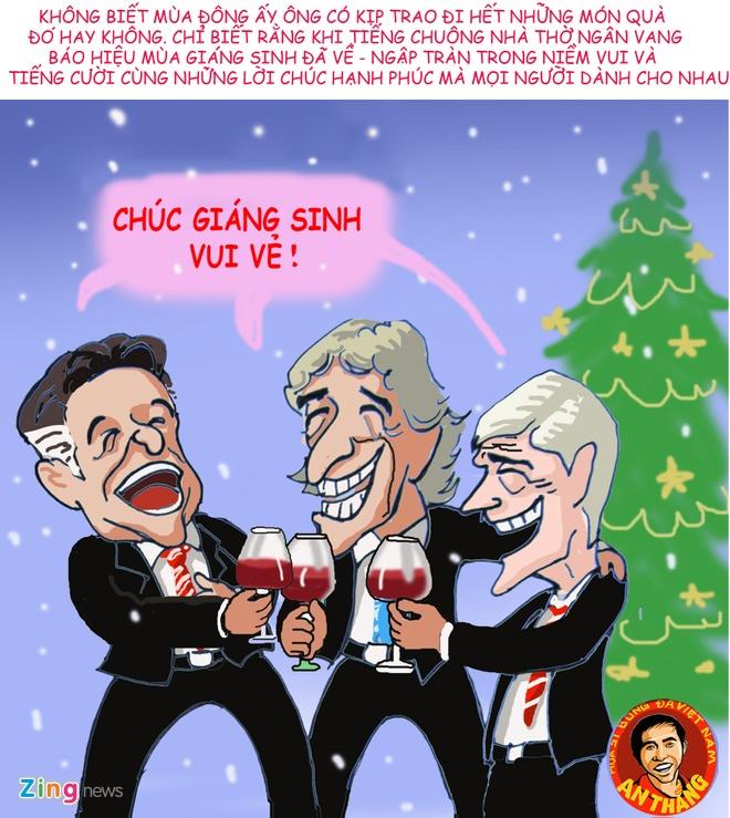Hi hoa: Mourinho hoa ong gia Noel phat qua cho doi thu hinh anh 14