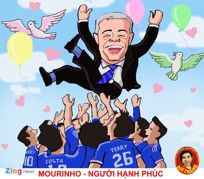 Hi hoa: Mourinho hoa ong gia Noel phat qua cho doi thu hinh anh 5