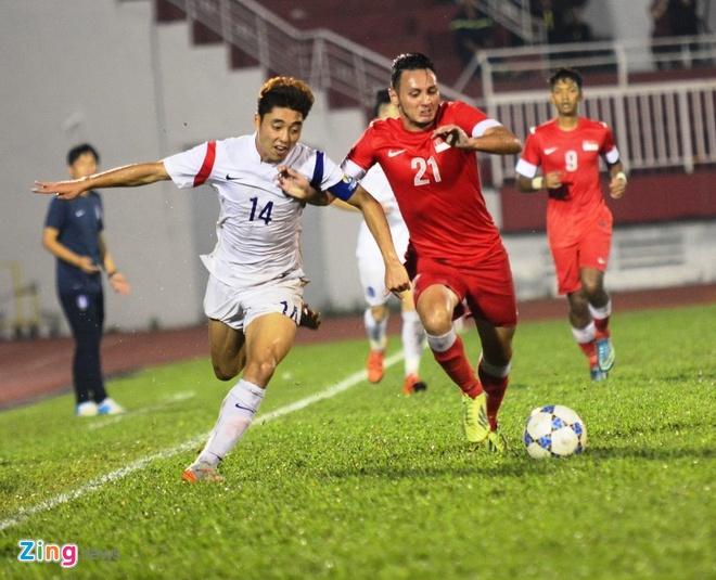 Thang U21 Singapore 3-0, U19 Han Quoc gap HAGL o chung ket hinh anh 18