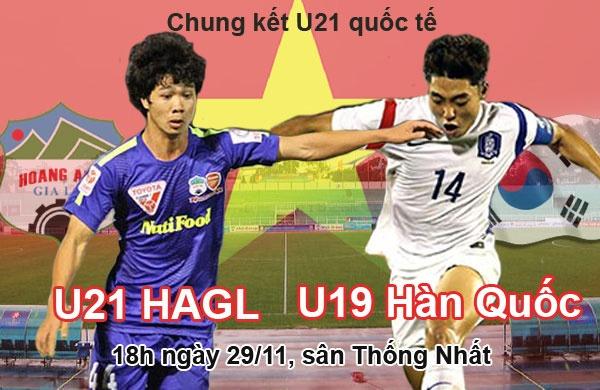 Lich thi dau 29/11: Tam diem tran U21 HAGL vs U19 Han Quoc hinh anh
