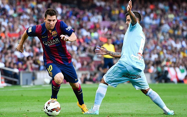 Messi lap hat-trick, Barca lay lai ngoi dau hinh anh 4