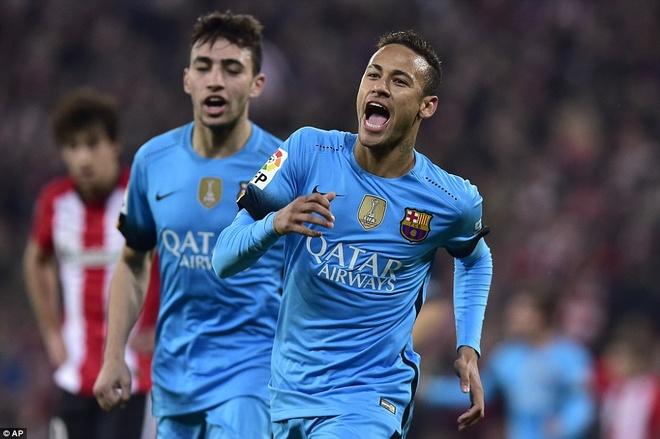 Neymar ha Bilbao trong ngay Messi, Suarez vang mat hinh anh