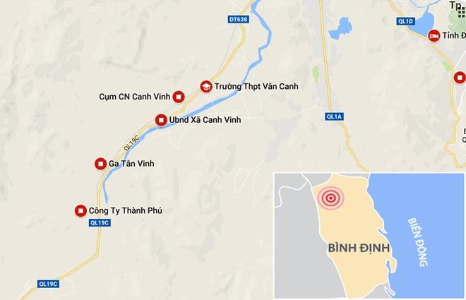 Vu tau hoa huc xe tai o Binh Dinh: 'Do gac chan khong dong' hinh anh 3