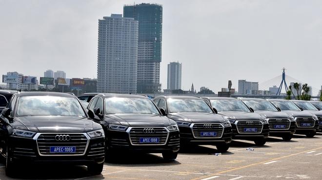 Can canh dan xe Audi phuc vu APEC 2017 hinh anh