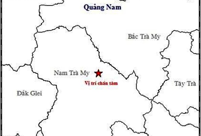 Dong dat 3,9 do Richter gay rung lac o Quang Nam, Quang Ngai hinh anh 2
