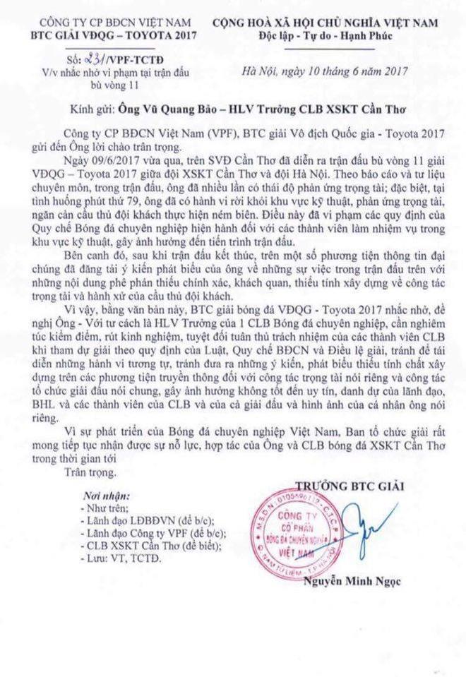 HLV Can Tho bi canh cao vi mang tuyen thu Viet Nam hinh anh 1