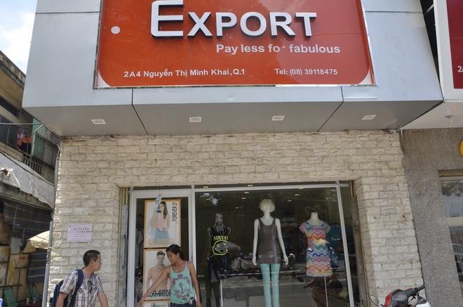 Giang ho Sai Gon mang sung cuop cua hang thoi trang hinh anh 2 Cửa hàng thời trang Export nơi xảy ra vụ cướp táo tợn ngay giữa trung tâm Sài Gòn