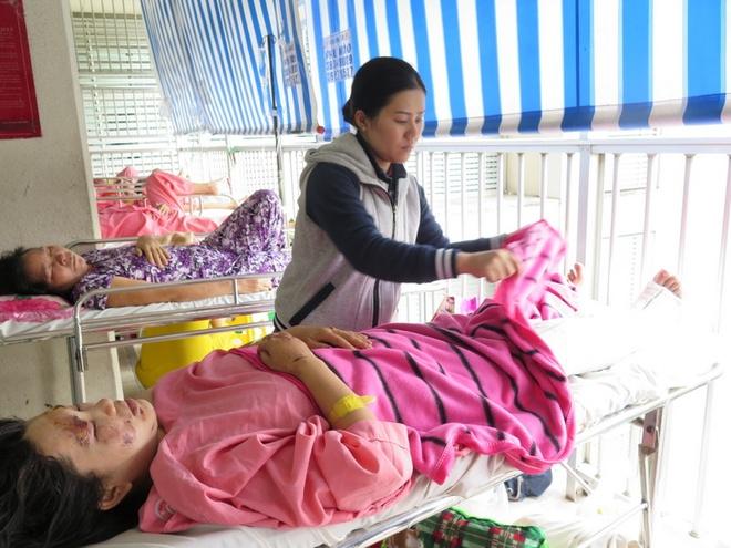 Nạn nhân sống sót trong vụ nổ đang được điều trị đa chấn thương tại bệnh viện Chợ Rẫy.