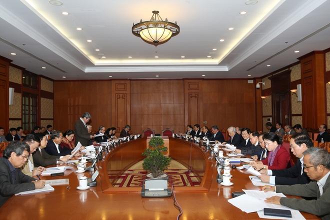 Hon 1.500 trang gop y vao du thao van kien Dai hoi Dang hinh anh 1 Toàn cảnh cuộc họp. Ảnh: VGP/Lê Sơn.