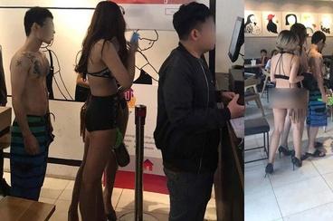 Xu phat quan tra sua o Sai Gon khuyen mai cho khach mac bikini hinh anh 1