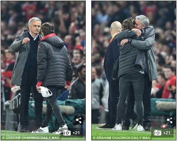 Hai cha con Mourinho nga lan tren san mung chuc vo dich Europa League hinh anh 7
