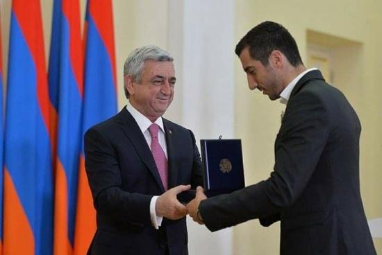 Mkhitaryan duoc Tong thong Armenia trao tang huan chuong hang nhat hinh anh 1