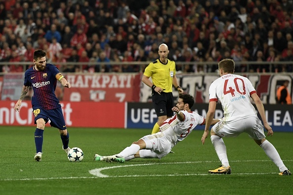 Messi im tieng, Barcelona chia diem voi Olympiacos hinh anh 2
