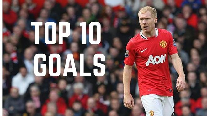 10 ban thang an tuong cua Paul Scholes trong mau ao Man Utd hinh anh