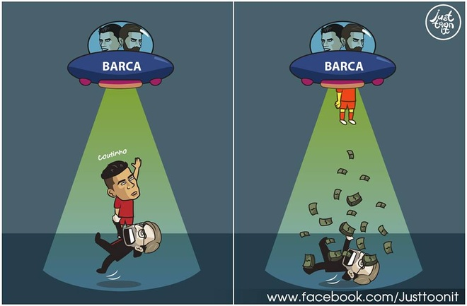 Biem hoa: Messi va Suarez giai cuu Coutinho hinh anh 2