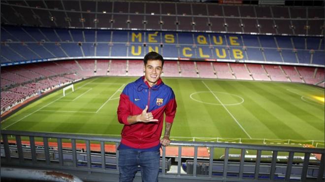Coutinho rang ro ra mat trong mau ao Barcelona hinh anh 6