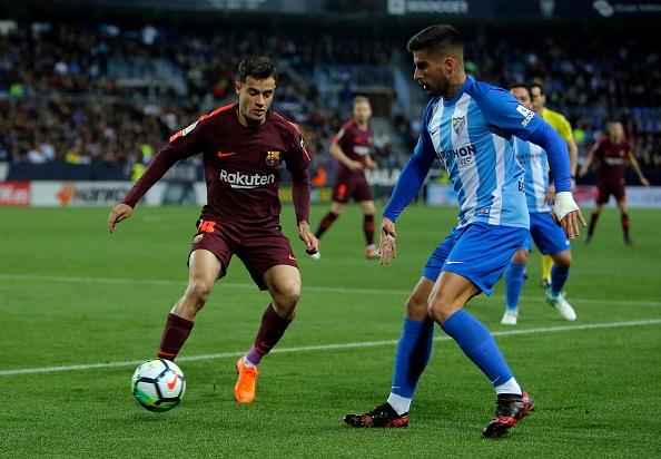 Highlights Malaga 0-2 Barcelona: Suarez va Coutinho lap cong hinh anh