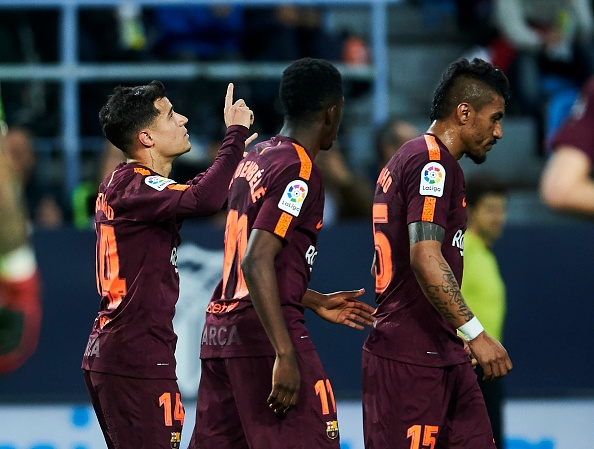 Vang Messi, Barca bay tren doi canh cua Suarez va Coutinho hinh anh 4