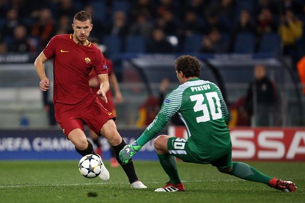 Dzeko lap cong dua AS Roma vao tu ket Champions League hinh anh 5