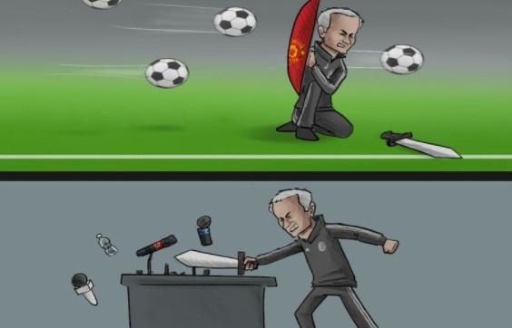 Hi hoa Mourinho chi biet tan cong o phong hop bao hinh anh