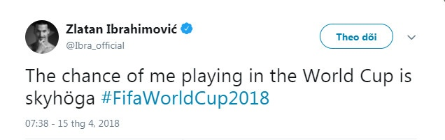 Ibra se thi dau cho DT Thuy Dien o World Cup 2018? hinh anh 1