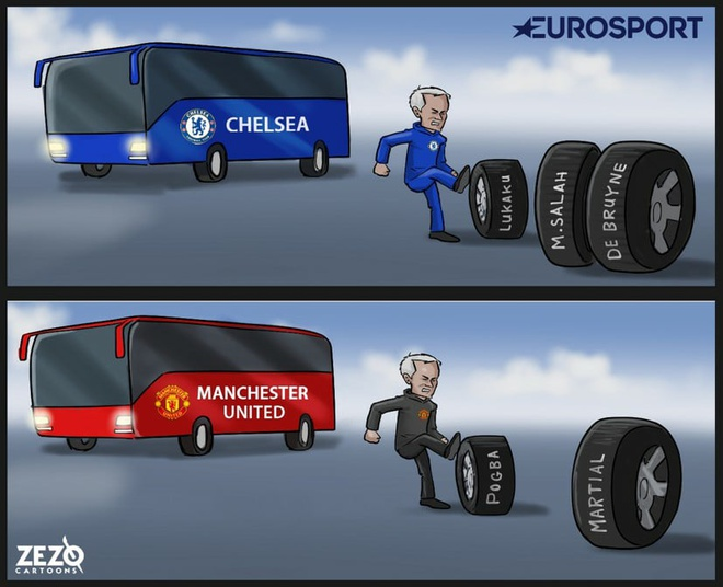 Hi hoa Mourinho di theo 'vet xe do' o Chelsea hinh anh 1