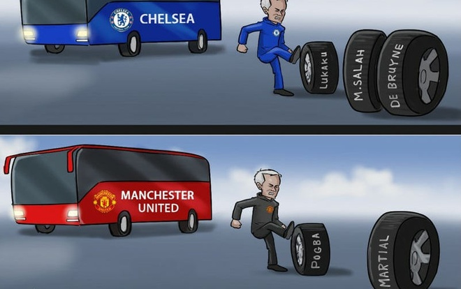 Hi hoa Mourinho di theo 'vet xe do' o Chelsea hinh anh