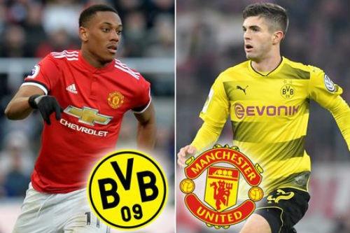 Chan Martial, Mourinho muon doi lay sao tre Dortmund hinh anh
