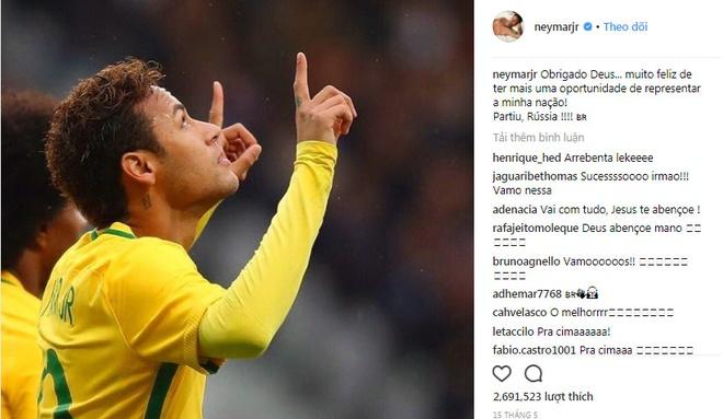 Tro lai luyen tap, Neymar san sang cho World Cup 2018 hinh anh 9