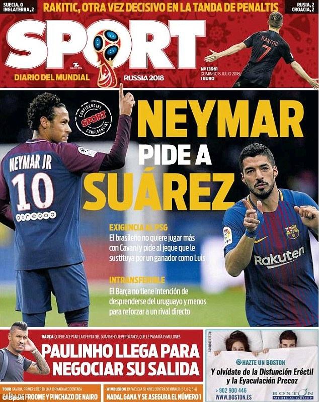 Neymar yeu cau PSG ban Cavani mua Suarez? hinh anh 1