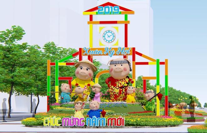 Phoi canh duong hoa Tet Ky Hoi 2019 o Sai Gon hinh anh