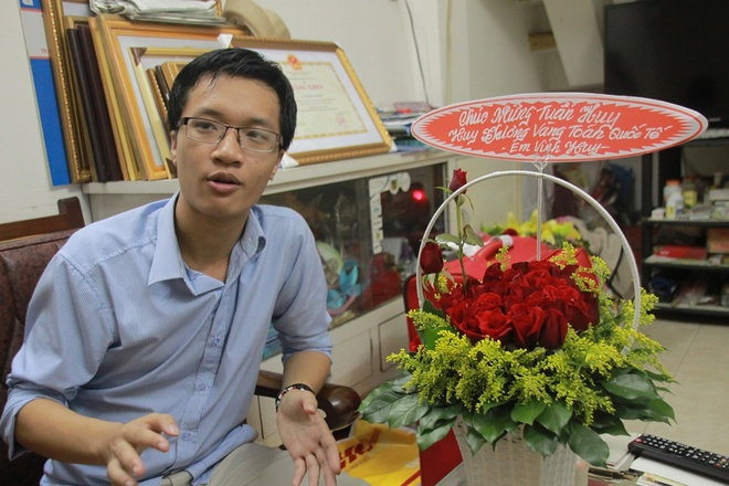 Chan dung 9X lap lai thanh tich cua GS Ngo Bao Chau hinh anh 1 Phạm Tuấn Huy chia sẻ về thành tích đạt được sau kỳ thi Olympic.