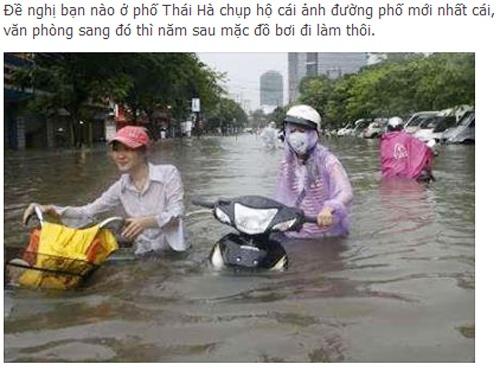 Cong dong mang tran ngap canh mua bao o Ha Noi hinh anh