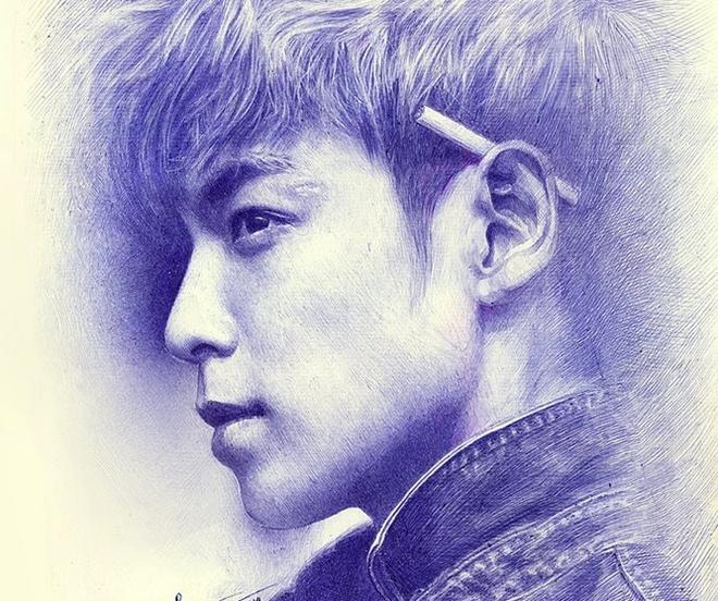 Chang trai sinh 1997 ve chan dung bang but bi nhu nguoi that hinh anh