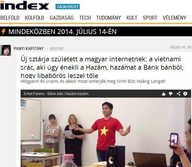 Bao chi Hungary ca ngoi giong hat 9X Viet 'son da ga' hinh anh 1 Báo chí