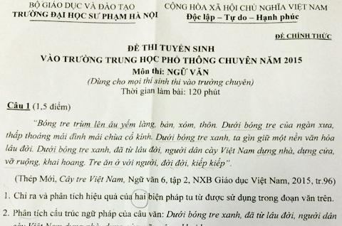 Le song vao de Van lop 10 truong chuyen Su pham Ha Noi hinh anh