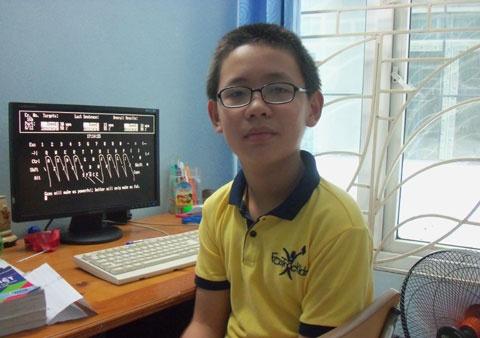 Toi da day con hoc 6 nam o nha the nao? hinh anh 1 Bé Bùi Huy Khang hiện đang sắp học xong lớp 6 của một chương trình học tại nhà.