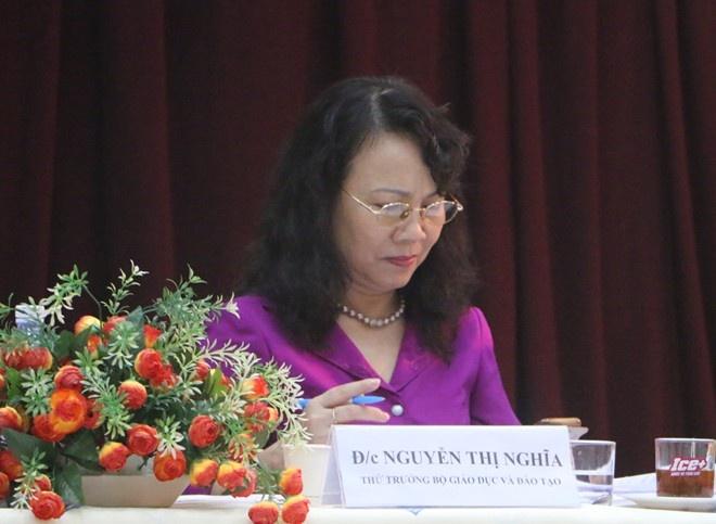 'Nhieu hoc sinh tim den cai chet chi vi ly do nho' hinh anh 1 Thứ trưởng GD&ĐT Nguyễn Thị Nghĩa. Ảnh: Quyên Quyên.