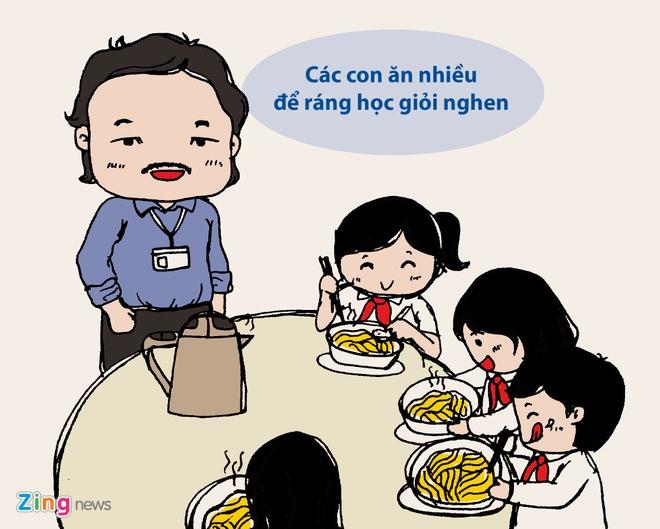Tranh ve: Nhung chuyen cam dong roi nuoc mat ve thay co hinh anh 1