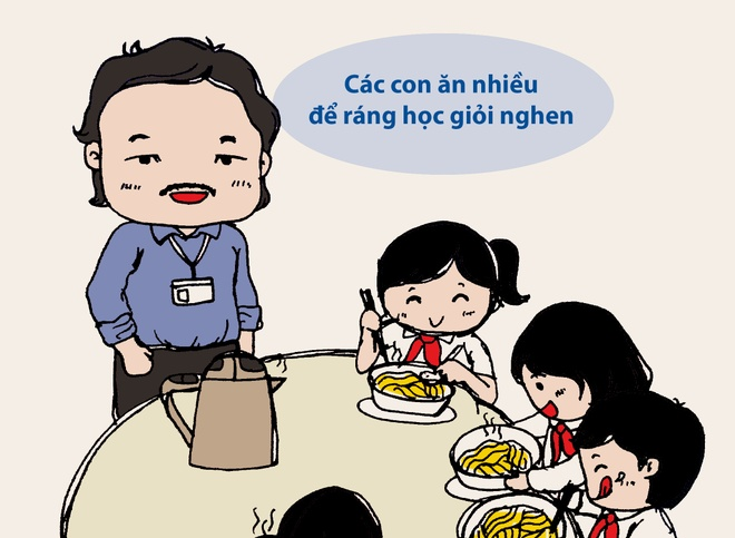 Tranh ve: Nhung chuyen cam dong roi nuoc mat ve thay co hinh anh