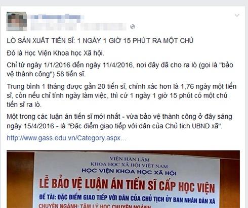 Dao tao tien si o Viet Nam 'vang thau lan lon' hinh anh 1