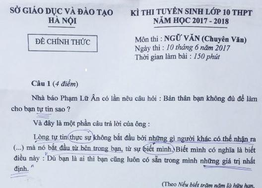 De thi Ngu van, Toan vao lop 10 chuyen o Ha Noi hinh anh