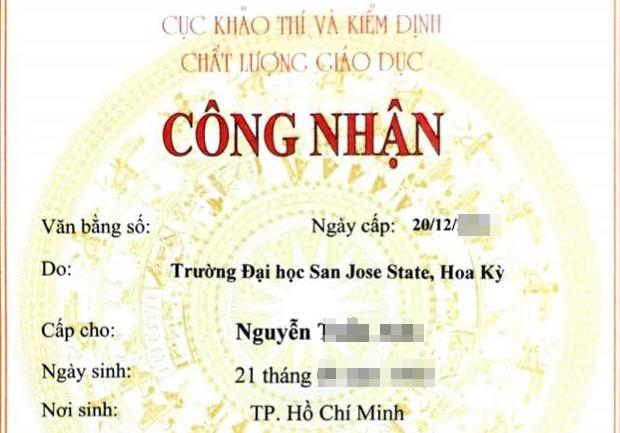Van bang nuoc ngoai nao duoc Bo GD&DT cong nhan? hinh anh