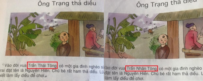 Sach giao khoa nham lan doi vua Tran Nhan Tong va Tran Thai Tong hinh anh 1