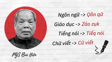 Chinh phu khong chu truong cai tien chu quoc ngu hinh anh