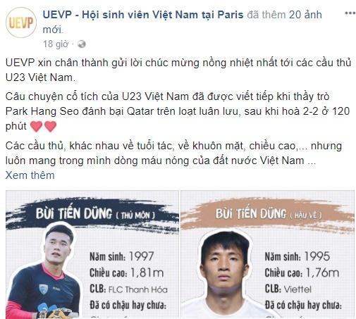 Du hoc sinh o nhieu noi tren the gioi chuc mung U23 Viet Nam hinh anh 8