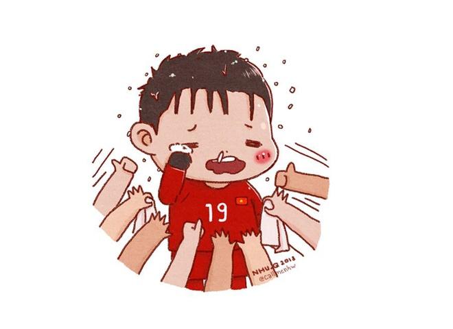 Cac 'nam than san co' U23 Viet Nam qua phien ban tranh ve hai huoc hinh anh 6