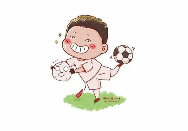 Cac 'nam than san co' U23 Viet Nam qua phien ban tranh ve hai huoc hinh anh 5