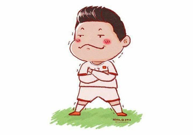 Cac 'nam than san co' U23 Viet Nam qua phien ban tranh ve hai huoc hinh anh 4